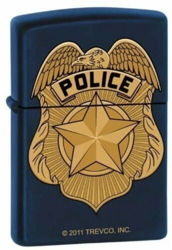 Zippo Lighter - Navy Blue Police Badge - ZCI0007287