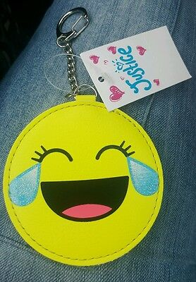 Justice laughing with tears emoji bookbag tag/ Keychain NWT (LAST ONE)](Laughing With Tears Emoji)