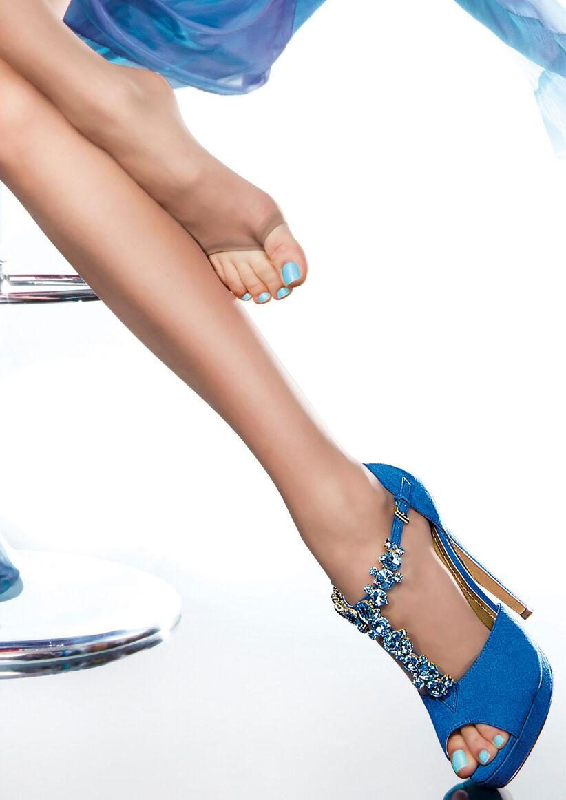 Zehenfreie Halterlose Strümpfe 20DEN Gr.S,M,L,XL für Peeptoes Sandalen ohne Zehe