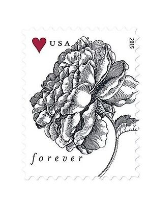 USPS Forever Vintage Rose Postage Stamps Sheet of 20 (20 Sheets - 400 Stamps)