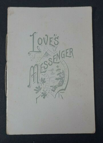 Antique Early 1900s Loves Messenger Valentines Day Card Booklet Poems Victorian