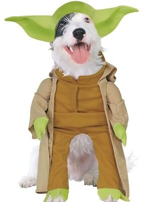 Little Star Kostüme (Little Yoda Dog Costume Star Wars Clone Wars Jedi Master Pet - S M L -)