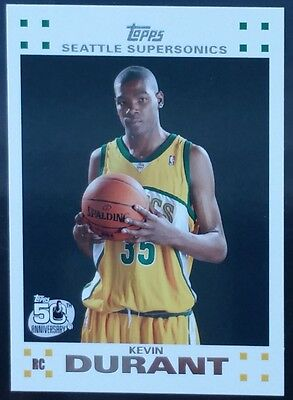 2007-08 Topps White Kevin Durant Rookie #2 of 14 RC NRMT+ Warriors NBA