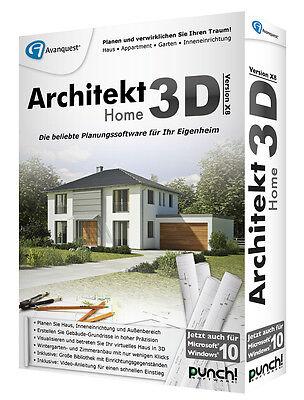 Architekt 3D X8 Home deutsch CD/DVD Box Win Version 18 Punch! + Driver Genius 12 online kaufen