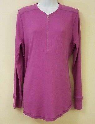Half Zip Knit Top (Lauren Ralph Lauren Womens 1X Purple Half-Zip Knit Top Plus Size Lilac Shirt New)