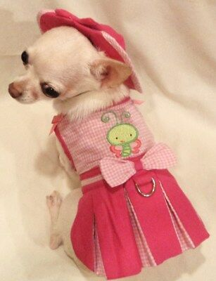 Harness Dress/Dog dress/Dog clothes/Butterfly Baby Set -XS,S,M,L-FREE SHIP