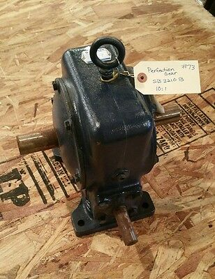 Perfection Gear Speed Reducer Worm Gearbox Sb3210b 101 Ratio 1574w