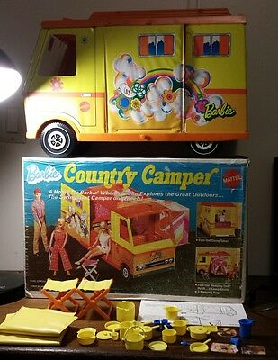 Vintage Mattel Barbie Country Camper With Box and Instructions