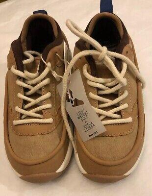 Tan-trainer (Zara Kids shoes boys Lightweight Soles Tan Trainer US 9.5 UK 10)
