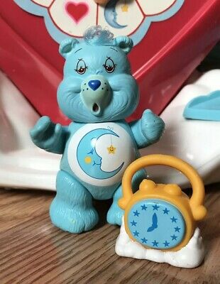 Care Bear Poseable Figure + Accessory Bedtime Bear & Clock FREE SHIPPING