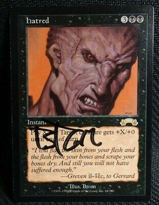 Hatred - Artist Brom Signed Exodus Black Instant Reserved List Rare #B911