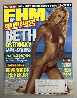 FHM Magazine August 2004 Beth Ostrosky Melana Scantlin Elise Garrigue