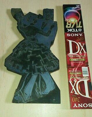 Klischee Druckplatte tanzendes Paar Maße 53x27x2,5