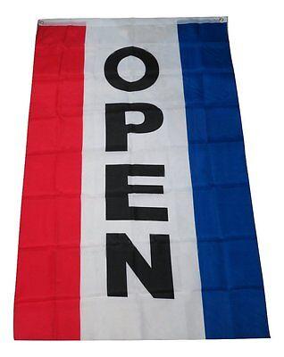 3x5 Open Flag Advertising Vertical Open Flag Sign 3'x5' 5'x3