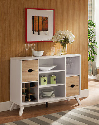 Modern White Buffet Wine Fine Dining Serving Table Stand Kitchen Home Furniture