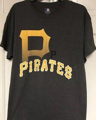 MLB GENUINE MERCHANDISE PITTSBURGH PIRATES T-SHIRT, MEN'S L, GRAY - Pirate Merchandise