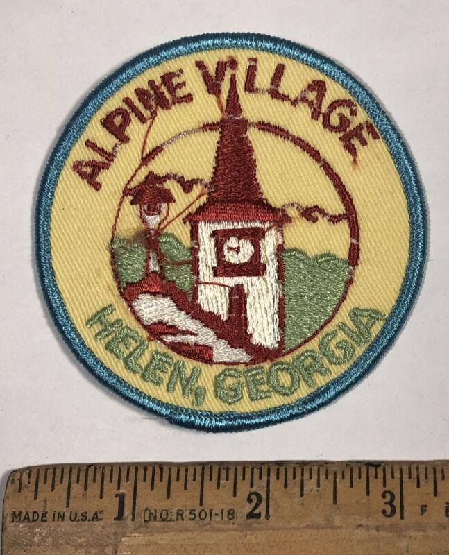 Vintage Alpine Village Helen Georgia Travel Souvenir Patch