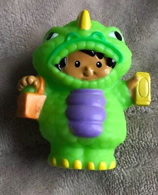 Fisher Price Little People Trick Or Treat Halloween Boy In Green Monster Costume - Little Kids In Halloween Costumes