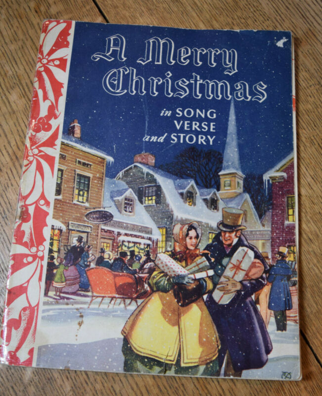VINTAGE 1940 CHRISTMAS SONG BOOK WITH CHRISTMAS STORIES