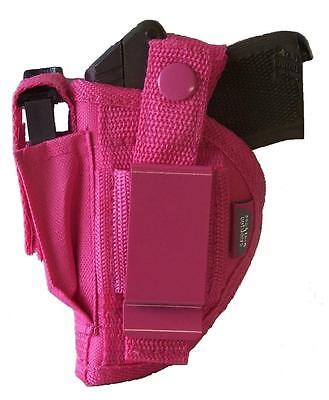 Pink Gun Holster With Extra Mag Pouch Fits Cobra Ca32 Left Or Right Hand Draw
