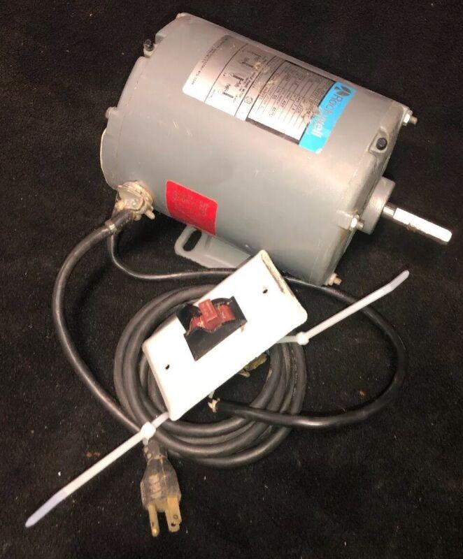 """VINTAGE Delta Rockwell 1/2 HP Motor 115V Single Phase 1725RPM 1/2"""" Shaft"""