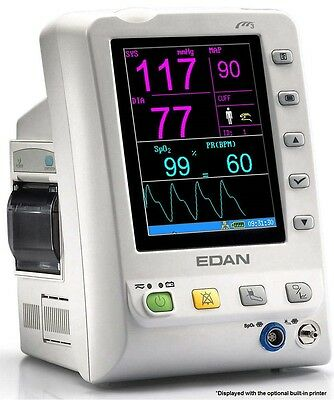 New Edan M3nst 5.7 Screen Multiparameter Patient Monitor Nibp Spo2 Temp.