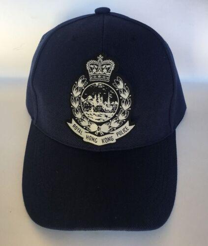 Cap #1 - Roya.l Hong. Kong. Police. w/blk & silver badge,