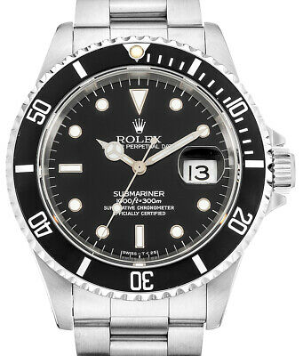 Rolex Submariner Date Steel Black Dial/Bezel Mens Automatic Watch X 16610