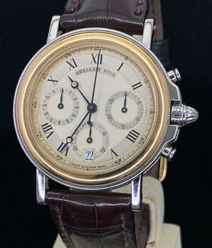 Breguet Marine Chronograph Men's Model 3460 18K/SS  2-Tone Automatic Watch