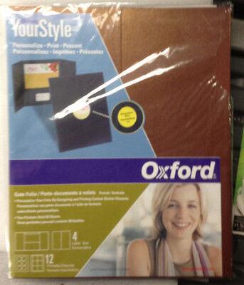 Oxford 50691your Style Custom Gatefolio Presentation Folder Red Sandstone 24 Ct