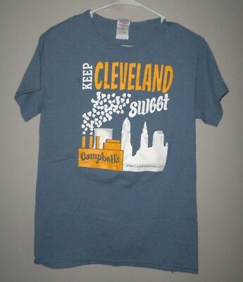CAMPBELL'S SWEETS FACTORY small T shirt Cleveland gourmet popcorn tee Ohio