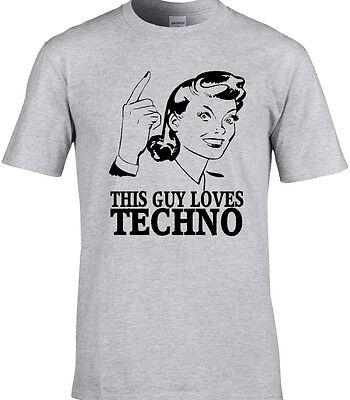 Techno Herren T-Shirt Electronic Tanz-Rave Disco Party Music Geschenkidee Lustig ()