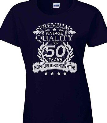 50th Birthday Celebration Ideas (Ladies Womens 50th Birthday T-Shirt Quality Celebration Gift Idea Fifty)