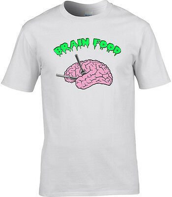 Funny Mens T-Shirt Brain Food Geek Goth Alternative Nerd Clever food Halloween](Halloween Brain Food)