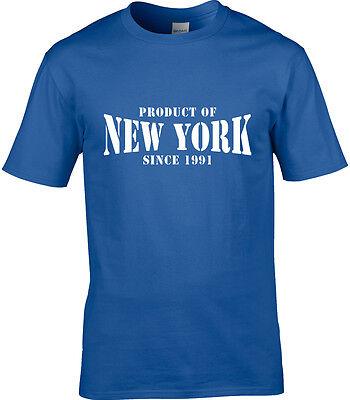 Produkt of New York Herren T-Shirt Ortsname Geburtstagsgeschenk Jahr der
