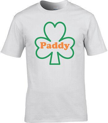 St.Patricks Tag T-Shirt Herren PADDY PATRICK Irische Flagge T-Shirt Kleeblatt