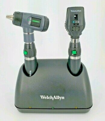 Welch Allyn Lithium Ion Charger Set 71641-ms Macroview Otoscope Ophthalmoscope