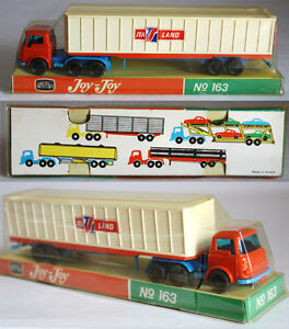 VERY-RARE-VINTAGE-70-039-S-JOY-TOY-No-163-BEDFORD-TRUCK-1-MADE-IN-GREECE-NEW-MISP