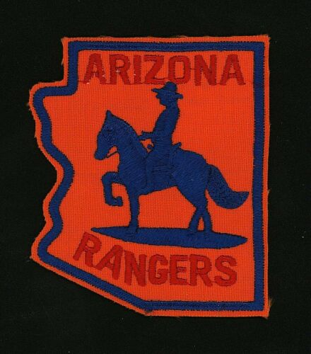 """Vintage Arizona Rangers 3"""" x 2.5"""" Embroidered Rare Police Patch"""