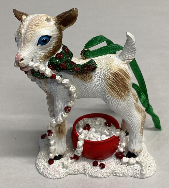 Danbury Mint Baby Animal Goat Christmas Ornament