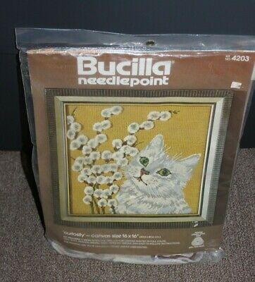 NEW Bucilla Needlepoint 4203 Curiosity 16x16