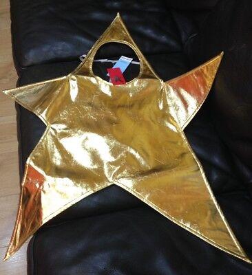 Kids Unisex Small Christmas Gold Shining Star Nativity Fancy Dress Party - Shining Star Kostüm