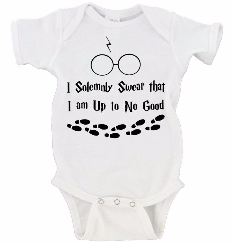 I Solemnly Swear That I Am Up To No Good Baby Harry Potter Onesie Marauders Map