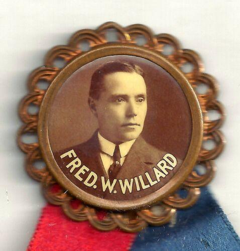 Philadelphia County FRED W. WILLARD PA House of Rep. Pin & Embossed Ribbon 1915