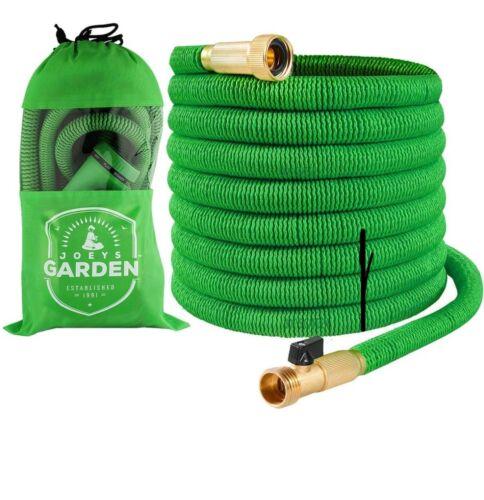 Expandable Garden Hose - 50 Feet Green - Extra Strong Stretc