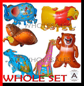 JUMBO Jungle Animals Safari Africa Animals Zoo Balloon Birthday Party Supplies