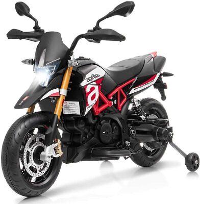 Moto Eléctrica para Infantil con Ruedas de Soportes Motocicleta Juguete con LED