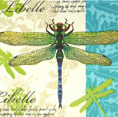 e Shabby Libelle Ornamente Tiere Keramikfliese Geschenkidee  (Libelle, Ornamente)