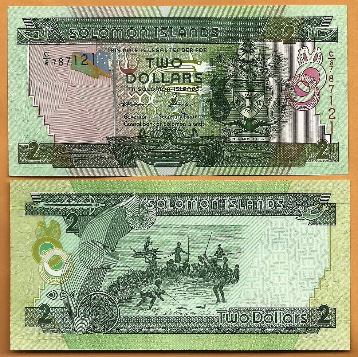25 2 Solomon Islands 2011  UNC 2 Dollars Banknote Paper Money Bill P
