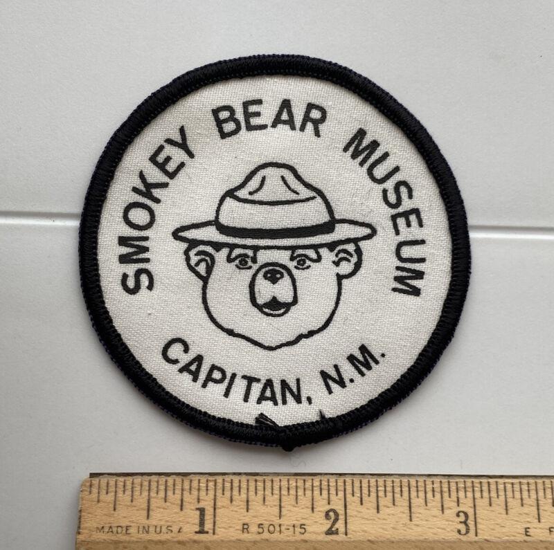 Smokey Bear Museum Capitan NM New Mexico Round Souvenir Patch Badge